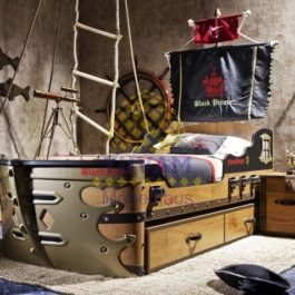 20.13.1308.00-Cilek Black Pirate S Schiffbett 90x190 cm