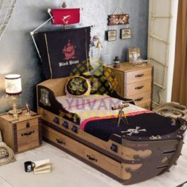 20.13.1310.00-Cilek Black Pirate M Schiffbett 90x195 cm