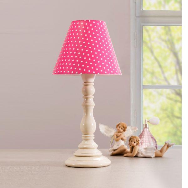21.10.6303.00-Cilek Dotty Tischlampe Pink